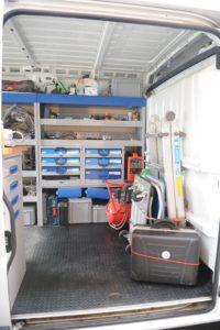 Mobile Werkstatt innen
